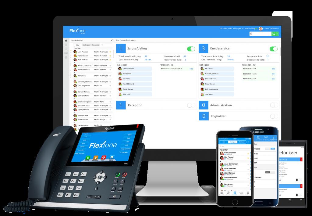 Flexfone - Bordtelefon, PC, iPad og mobil
